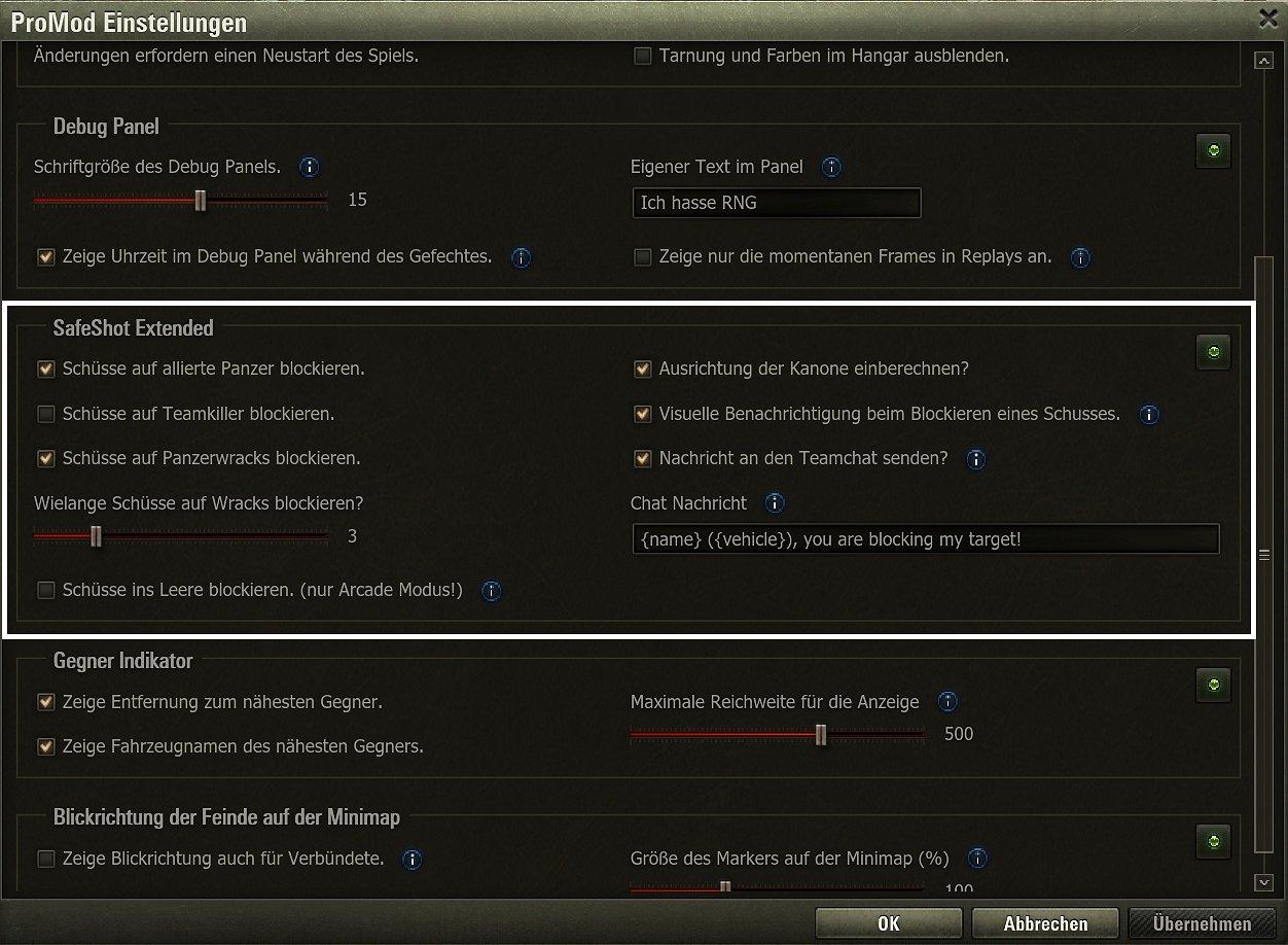 SafeShot Mod — download mods for World of Tanks (WoT)